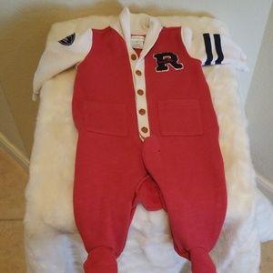 Ralph Laren Varsity Sweater Onesie 3 Months